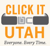 logo for click it utah