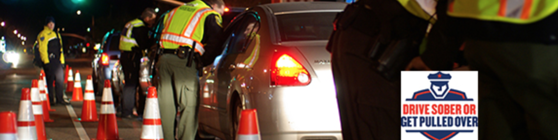 Cars stopped at a DUI Checkpoint