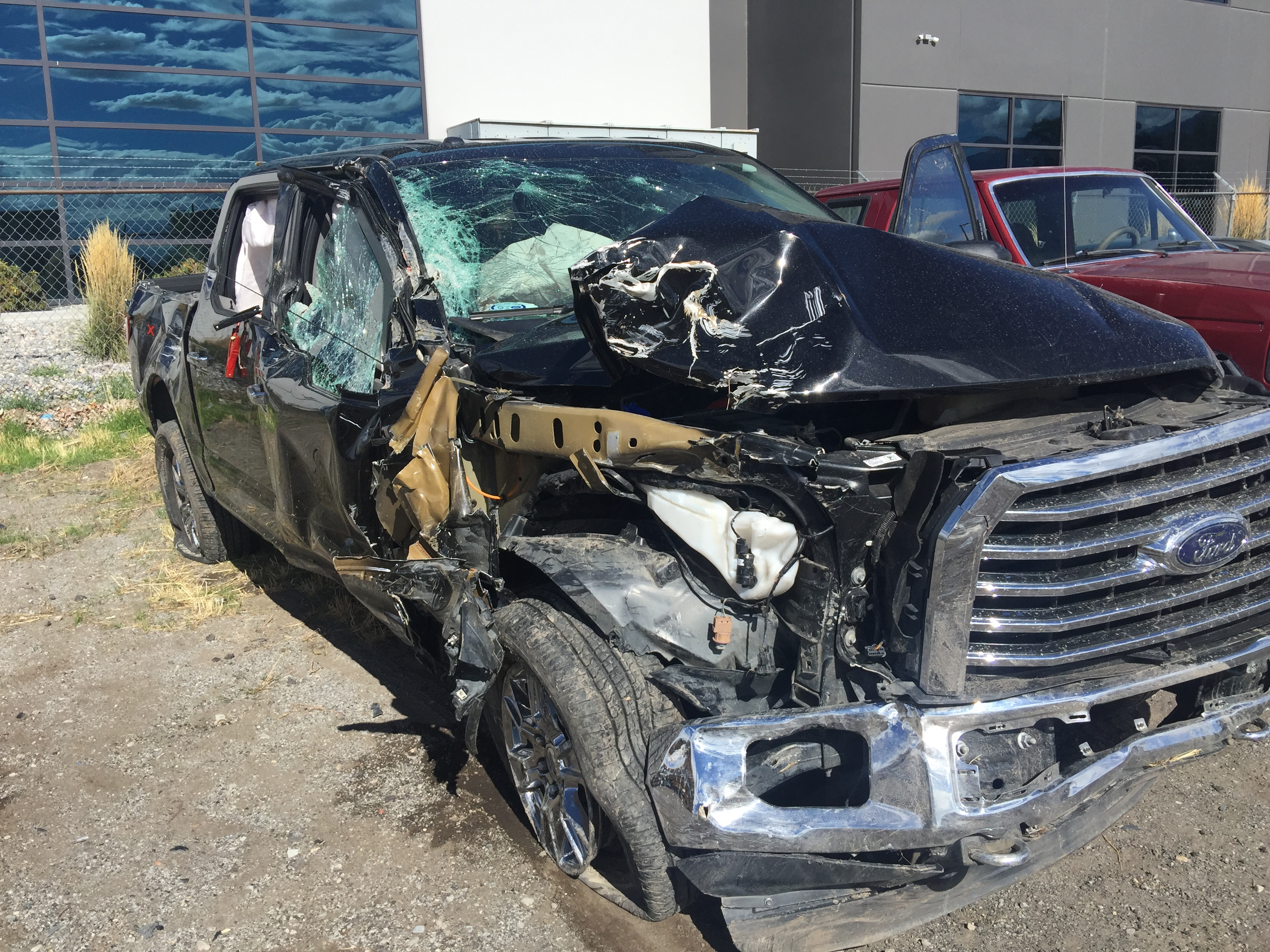 Picture of truck teens were in when it rolled in Sundance Canyon