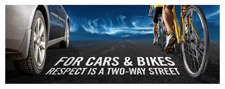 Road Respect is a program that encourages cyclists and drivers to safely share the roads .